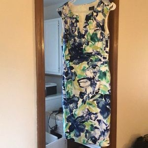 Adrianna Papell Floral Dress Women's Large